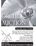 2017 Black and White OSSC Orchid Auction Poster