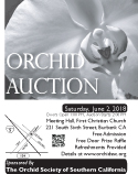 2018 Black and White OSSC Orchid Auction Poster