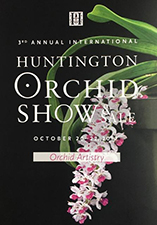 Poster for the 2016 Huntington Orchid Show